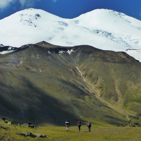Elbrus, North-South Traverse