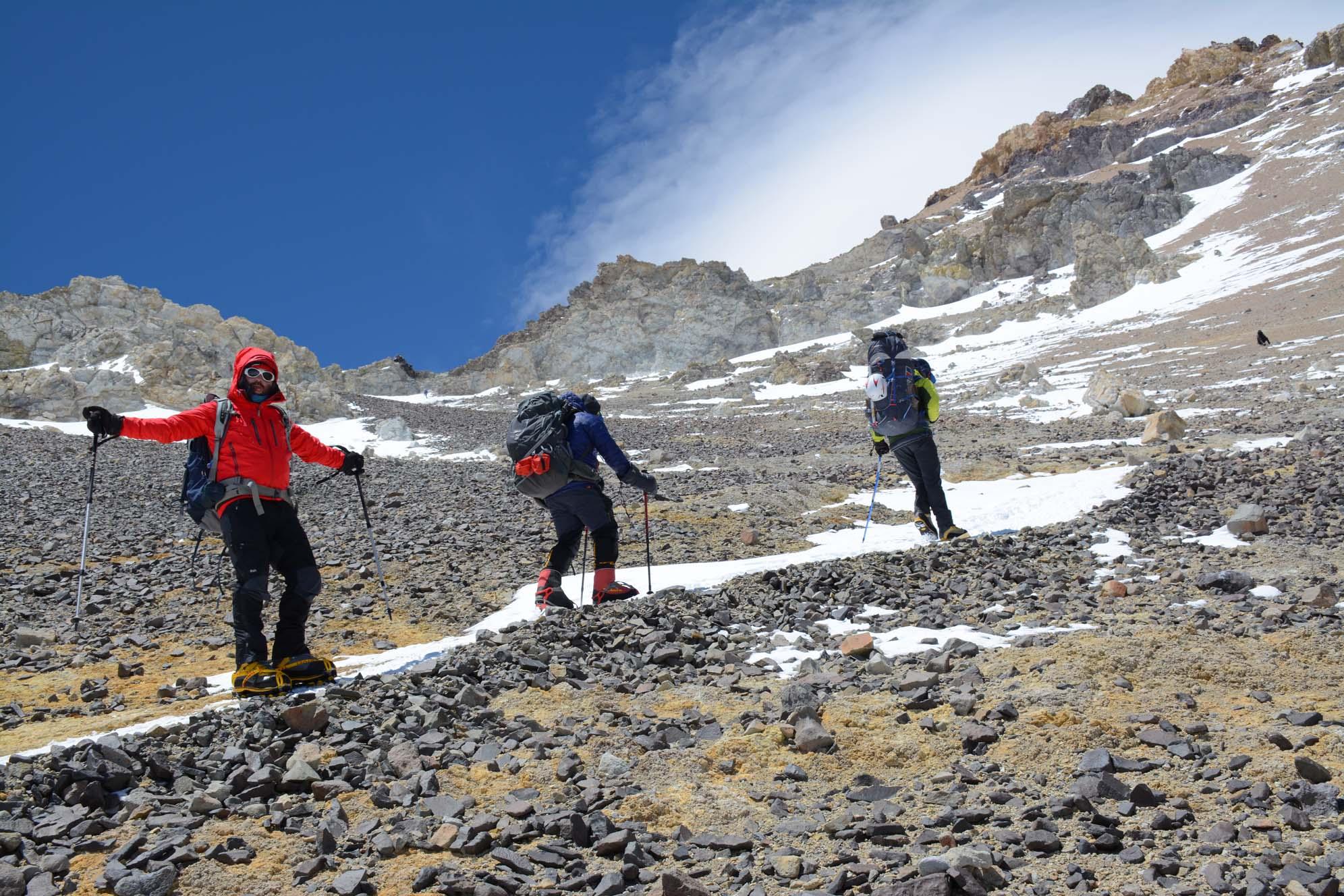 aconcagua summit of south america rucksack pocket summits
