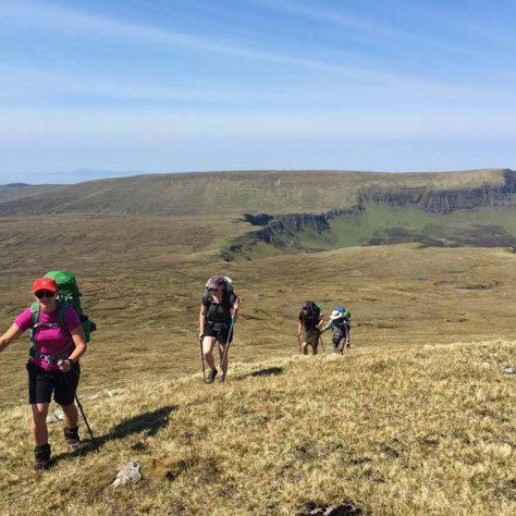 Trekking, in the North West Highlands
